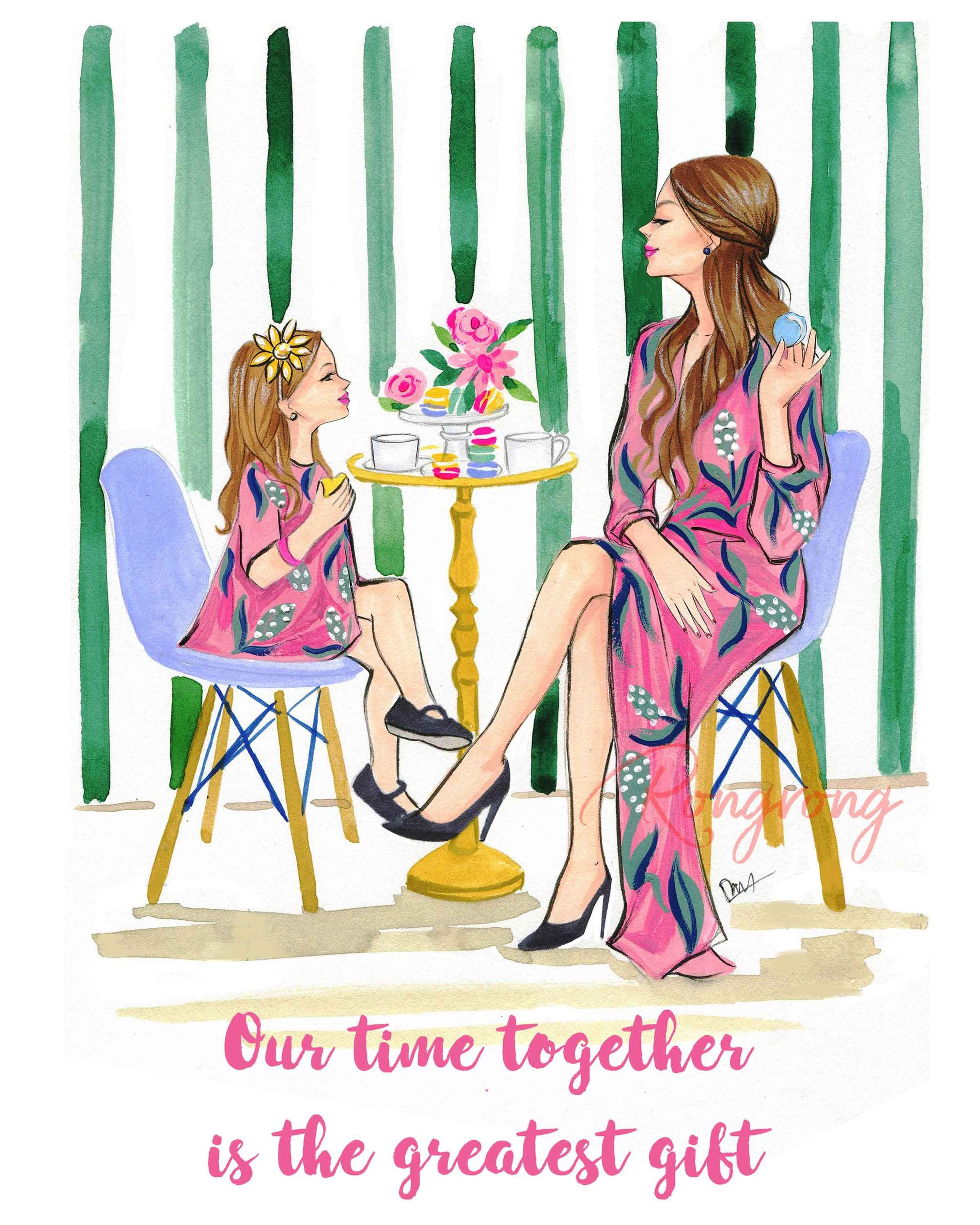 Mom and daughter at the fair clipart picture transparent download Mom Life   Unique Gifts for Moms   Shop Rongrong picture transparent download