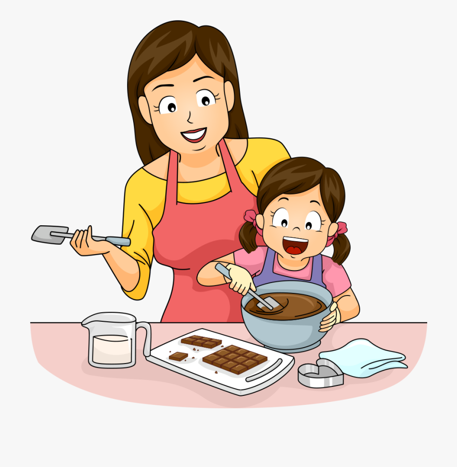Mom and daughter baking clipart black and white jpg free stock Cooking Baking Clip Art And Daughter Make - Mom And Daughter ... jpg free stock