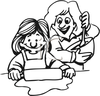 Mom and daughter baking clipart black and white clipart freeuse library Doughs clipart images and royalty-free illustrations ... clipart freeuse library