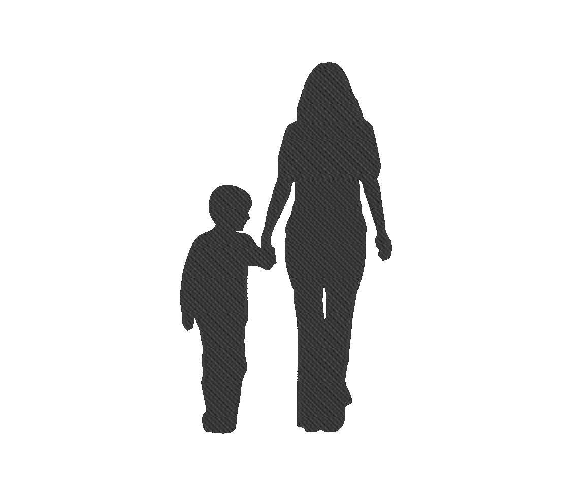 Mom and son talking clipart black and white banner transparent Mother Son Silhouette Mom Mommy Mother\'s Day Embroidery ... banner transparent