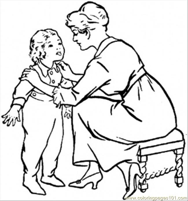 Mom and son talking clipart black and white clipart free stock Mother And Son Talking Clipart clipart free stock