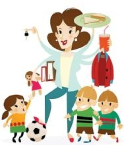 Mom comes home clipart png library download Slave-at-Home Mom | Working Mother png library download