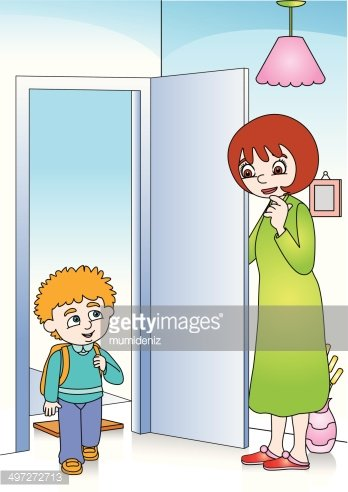 Mom comes home clipart clipart royalty free Mom Boy Home premium clipart - ClipartLogo.com clipart royalty free