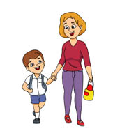 Mom dropping kids off at school clipart svg free download Dogs Safety for Students | West Wind Dog Training svg free download