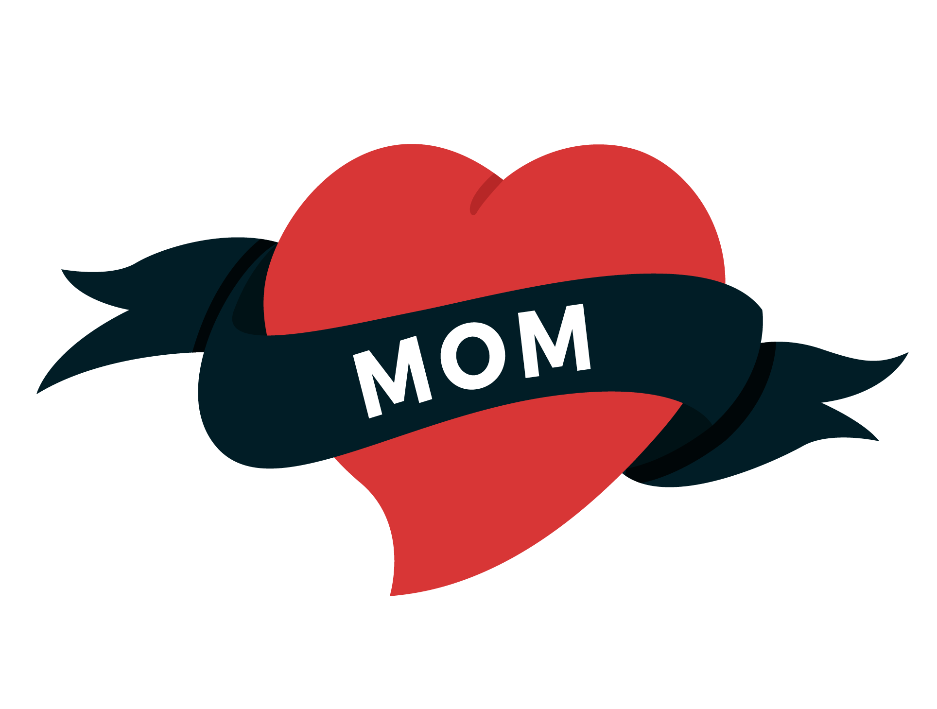 Mom heart tattoo clipart png library Old school (tattoo) Heart Swallow tattoo - Valentine's day love 1928 ... png library