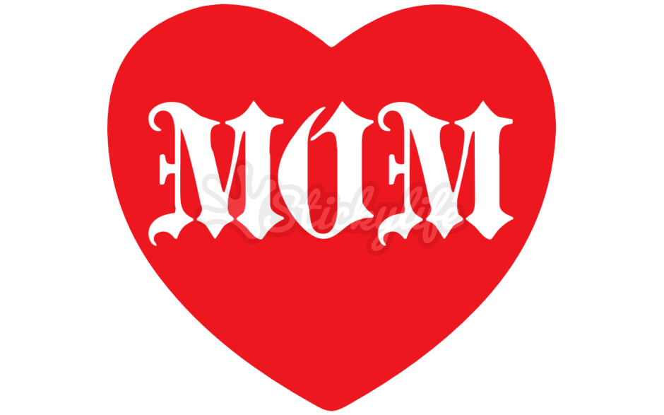 Mom heart tattoo clipart image freeuse library Mom Temporary Tattoo - Custom Heart Tattoos image freeuse library