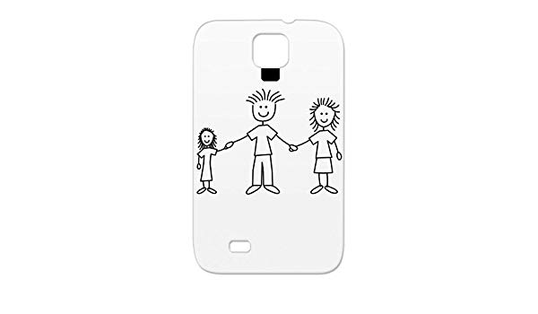 Mom loves kids black and white clipart stick figure clipart library library Amazon.com: TPU Skid-proof Black Mom Design Couple Happy ... clipart library library