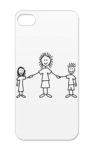 Mom loves kids black and white clipart stick figure transparent library Amazon.com: TPU Style Girl Mother Love Happy Parents Motif ... transparent library