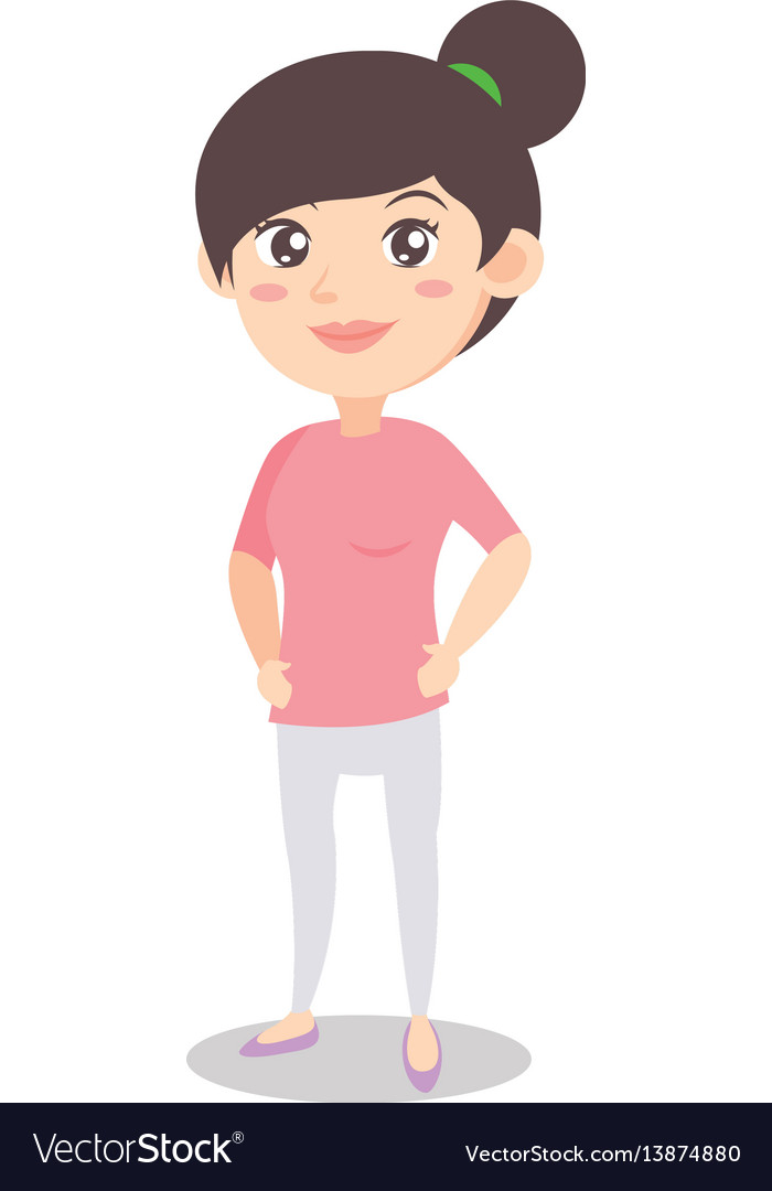 Mom standing clipart vector free Character of mother standing design vector free