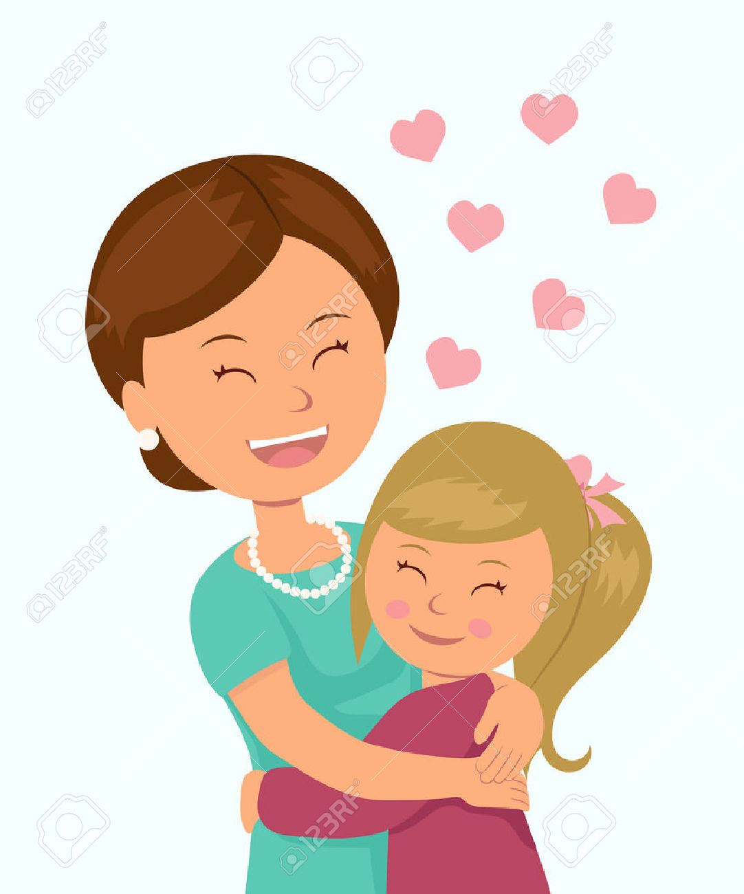 Mommy ad daughter clipart with child hagig her somethig svg freeuse stock Mother Daughter Cliparts   Free download best Mother ... svg freeuse stock