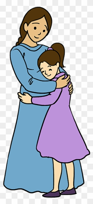 Mommy ad daughter clipart with child hagig her somethig picture royalty free stock How To Draw Mother Hugging A Daughter - Easy Drawings Of ... picture royalty free stock