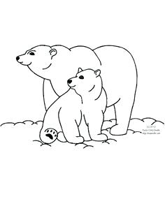 Mommy animal with their baby clipart black and white png library download Polar Bear Clipart Polar Bear Clip Art Polar Bear Clipart ... png library download
