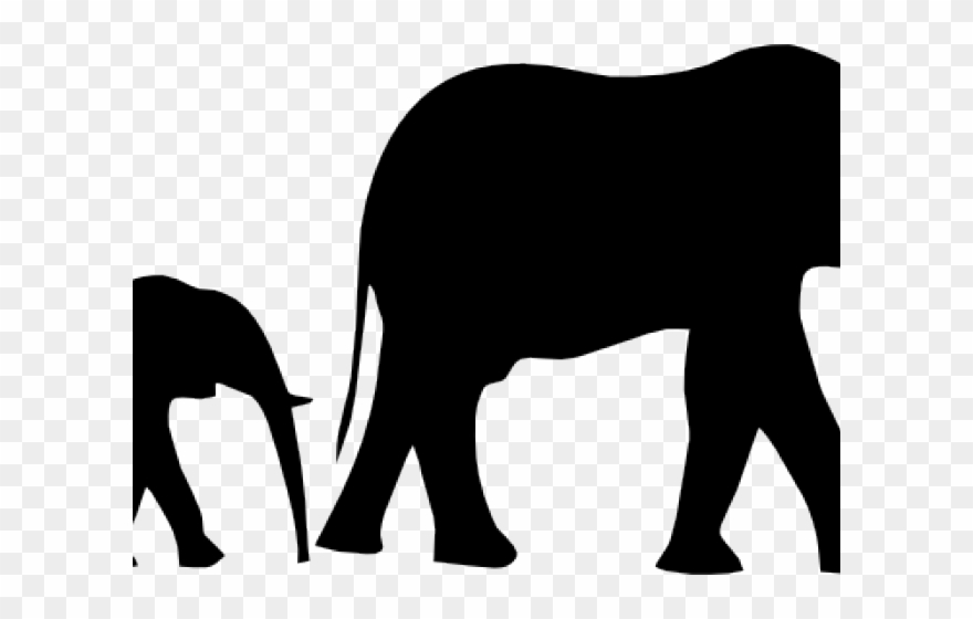 Mommy animal with their baby clipart black and white graphic freeuse stock Mother And Baby Clipart Baby Outline - Elephants Mother And ... graphic freeuse stock
