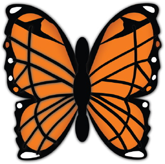 Monarch butterfly clipart free vector black and white stock Monarch Butterfly Clipart & Monarch Butterfly Clip Art Images ... vector black and white stock