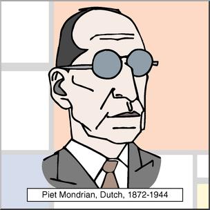 Mondrian clipart jpg stock Clip Art: Artists: Piet Mondrian Color I abcteach.com | abcteach jpg stock