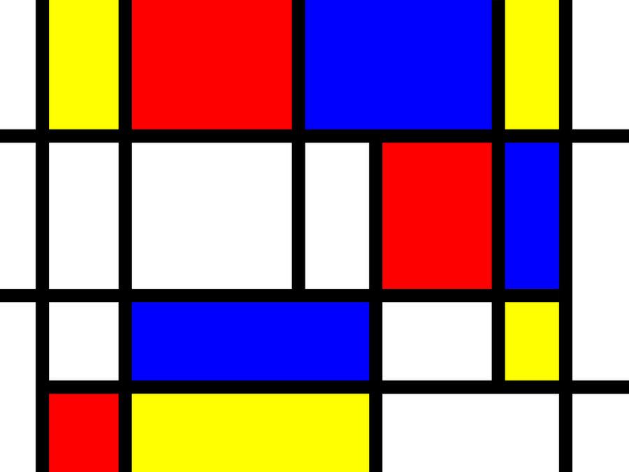 Mondrian clipart vector download Mondrian paintings vector download