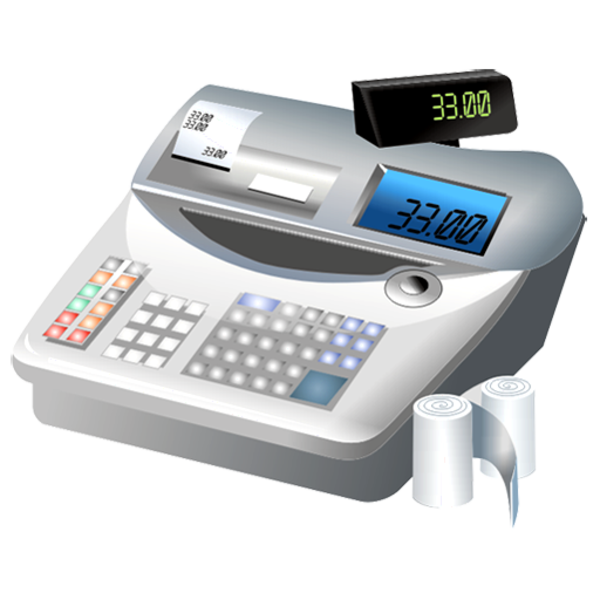 Money and calculator clipart clip black and white library Cash Register | Free Images at Clker.com - vector clip art online ... clip black and white library