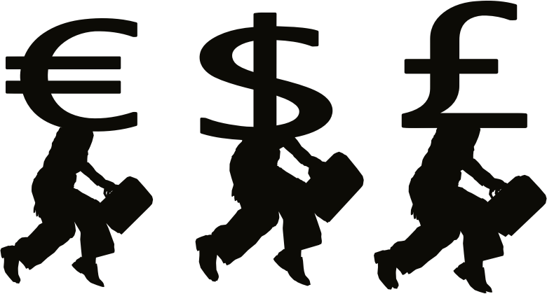 People with money clipart picture black and white library Clipart - Money People Silhouette picture black and white library