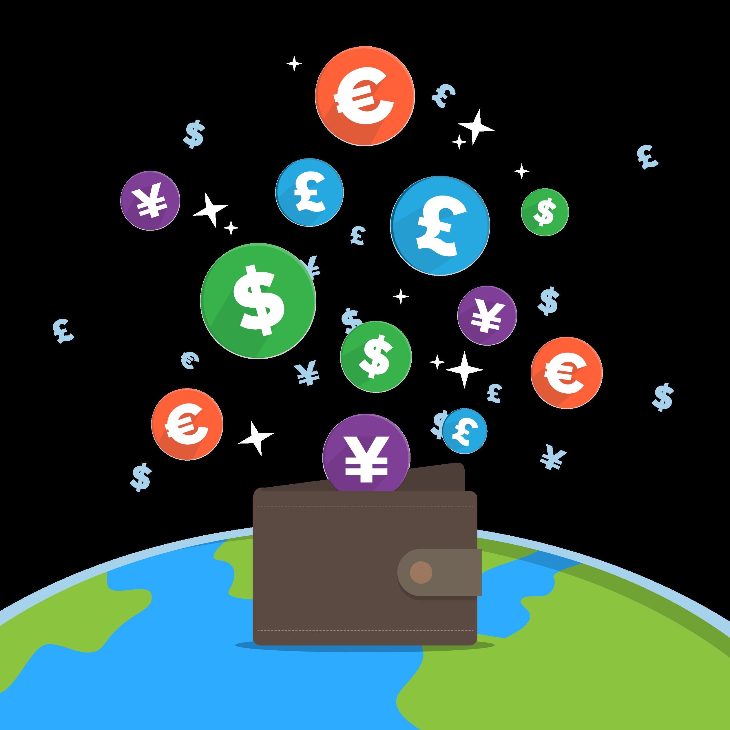 Money and personnel clipart business clipart transparent download Payment Business E-commerce Money Exchange rate - Creative wallet ... clipart transparent download