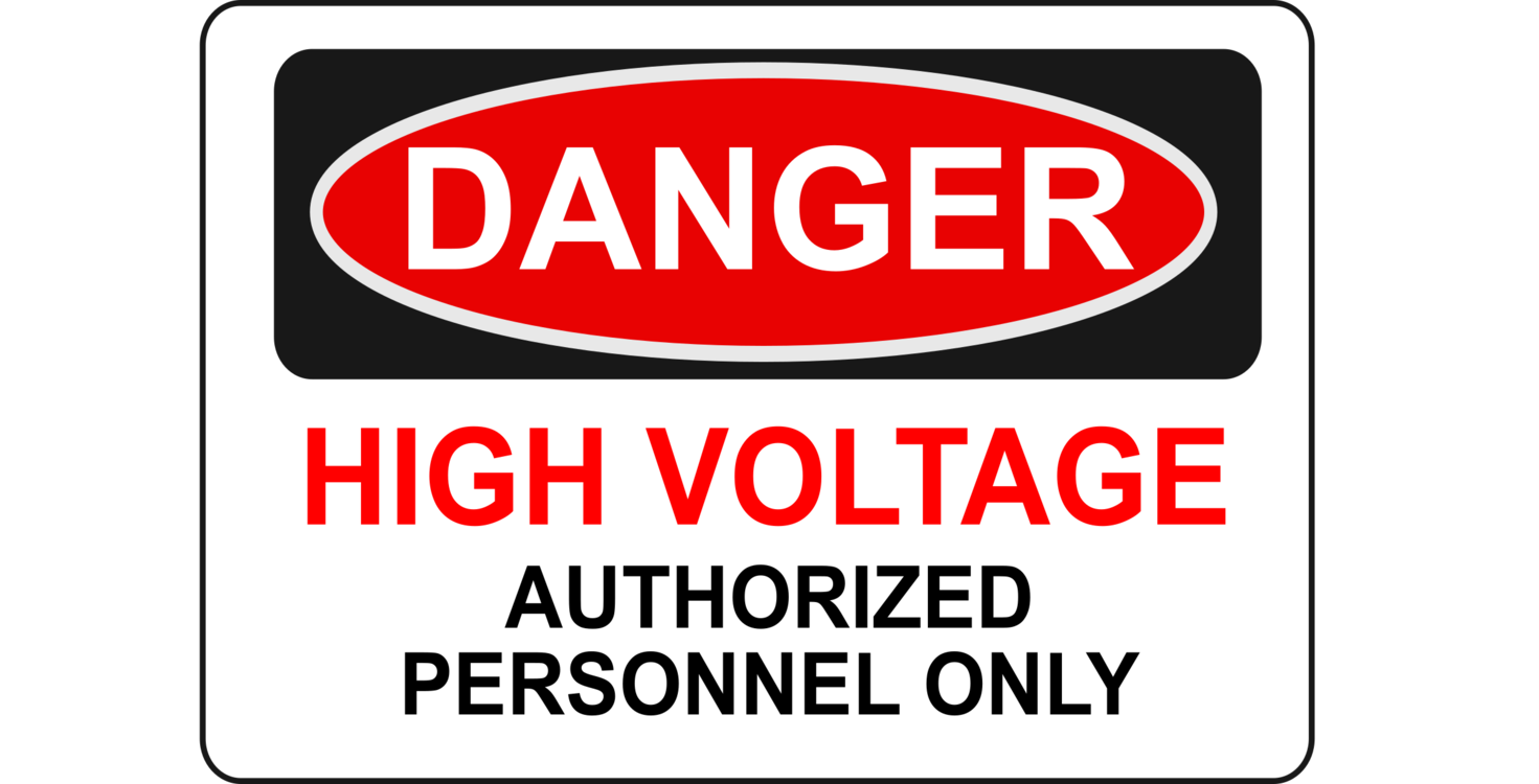 Money and personnel clipart business image black and white Danger High Voltage Authorized Personnel Only Electric potential ... image black and white