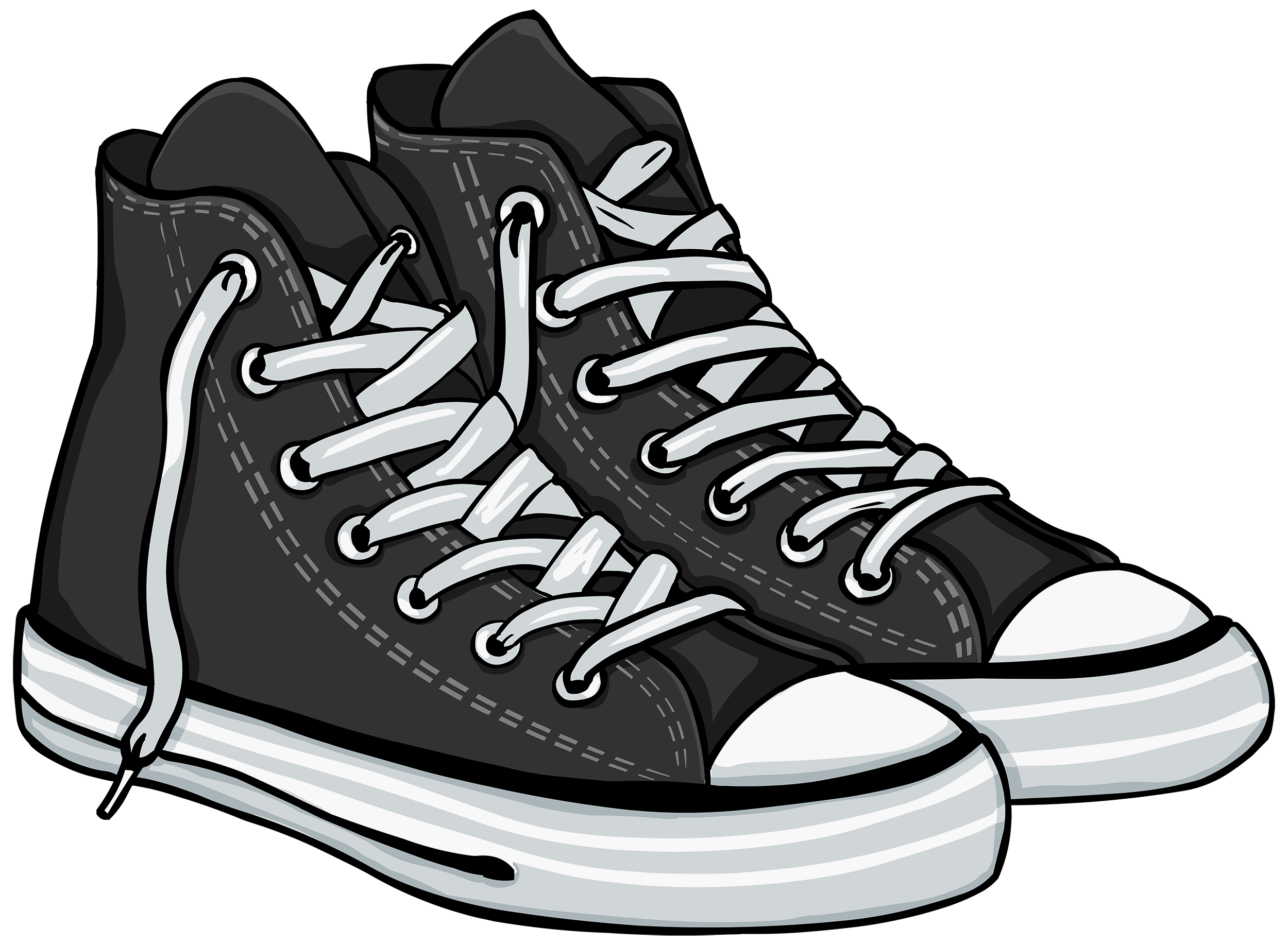 Nba basketball shoes clipart clipart free library Black High Sneakers PNG Clipart - Best WEB Clipart clipart free library