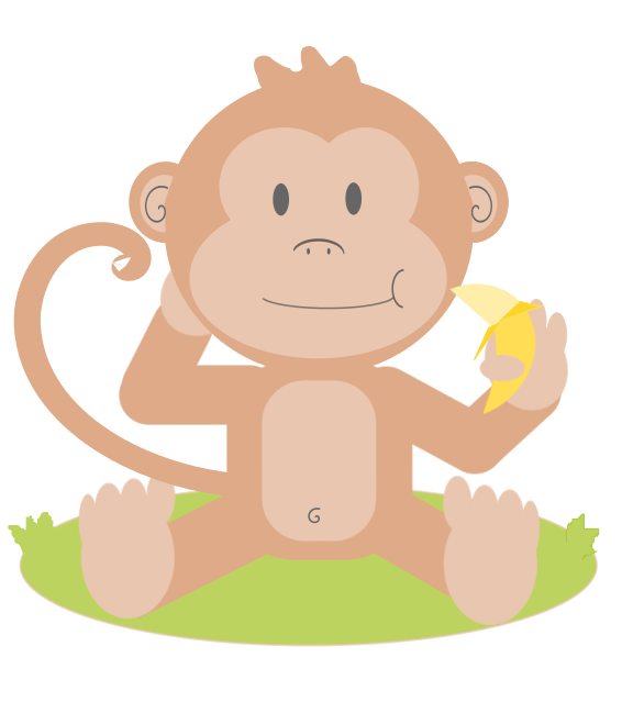 Simple cartoon turkey clipart free royalty free stock Baby Monkey Clip Art | Clipart Panda - Free Clipart Images royalty free stock