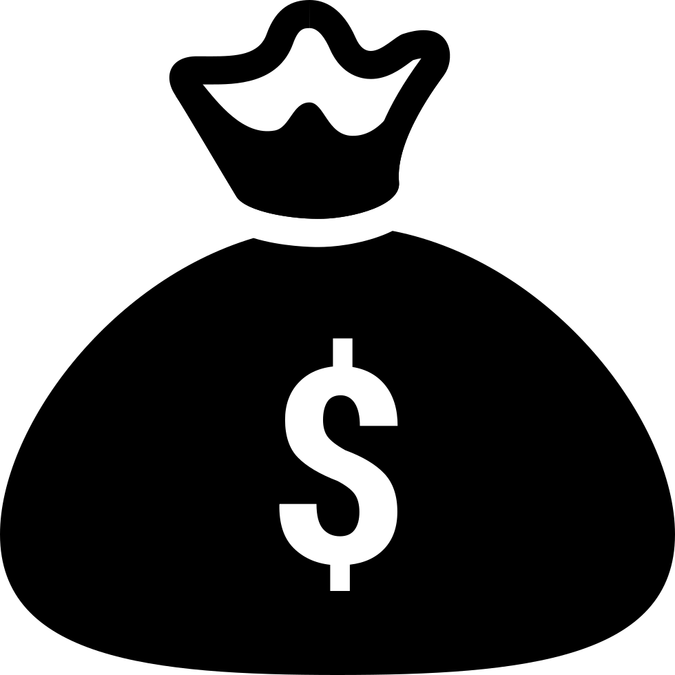 Money bag black and white clipart freeuse library Money Bag Svg Png Icon Free Download (#434295) - OnlineWebFonts.COM freeuse library