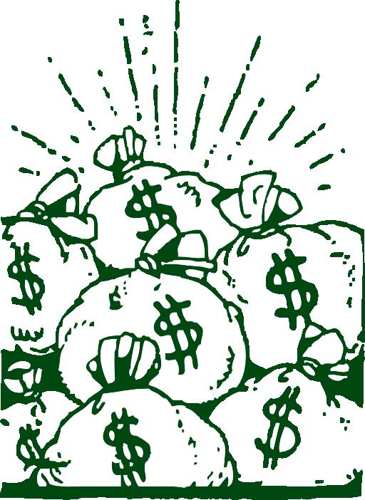 Money bags clipart black and white jpg transparent Money Bags Clipart | i2Clipart - Royalty Free Public Domain Clipart jpg transparent