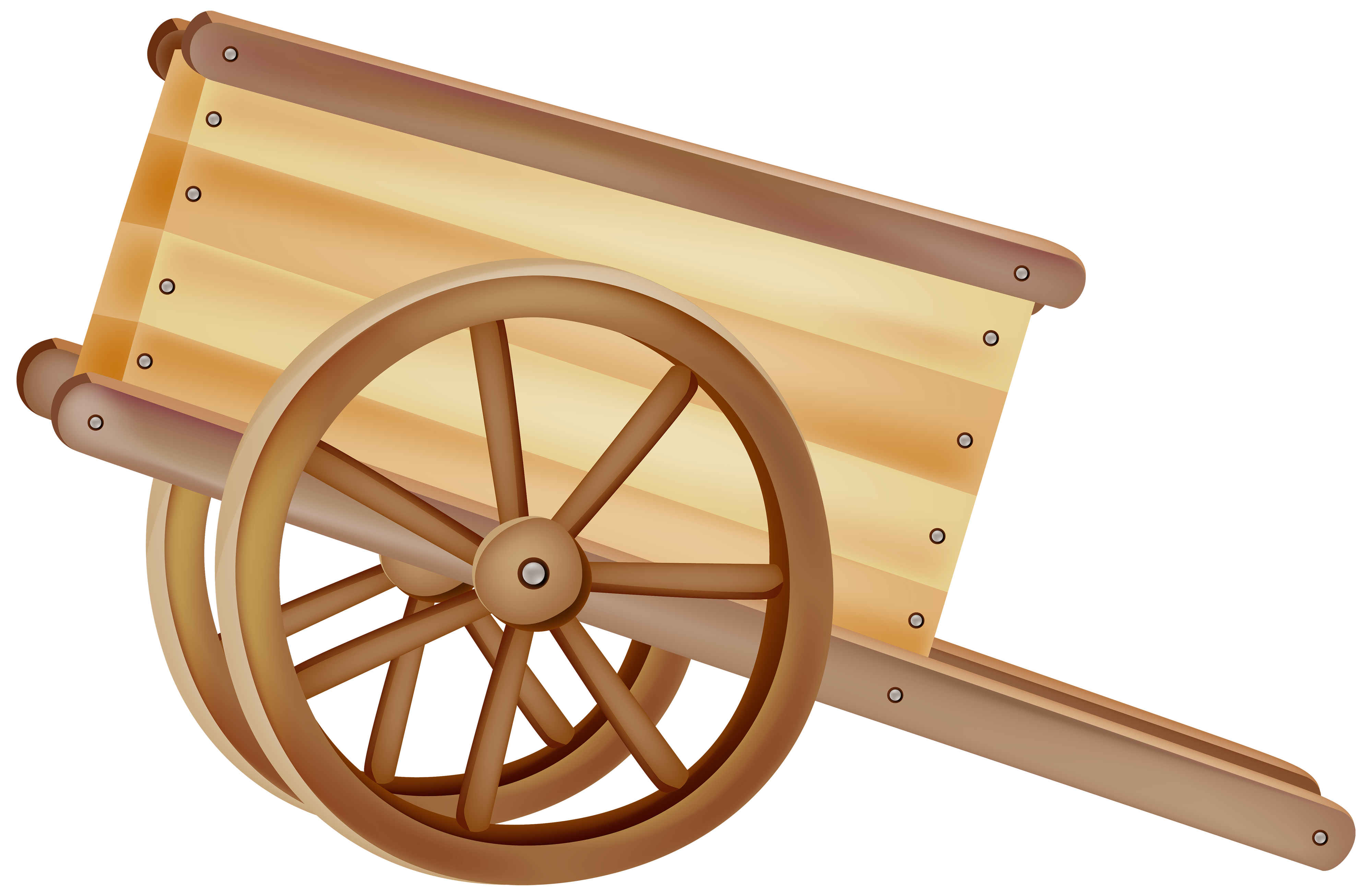 Money cart clipart clipart free library Wooden Wheelbarrow PNG Clipart - Best WEB Clipart clipart free library