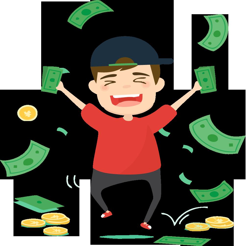 Money cartoon character clipart vector transparent download Money Download Clip art - Business man with money 1004*1004 ... vector transparent download
