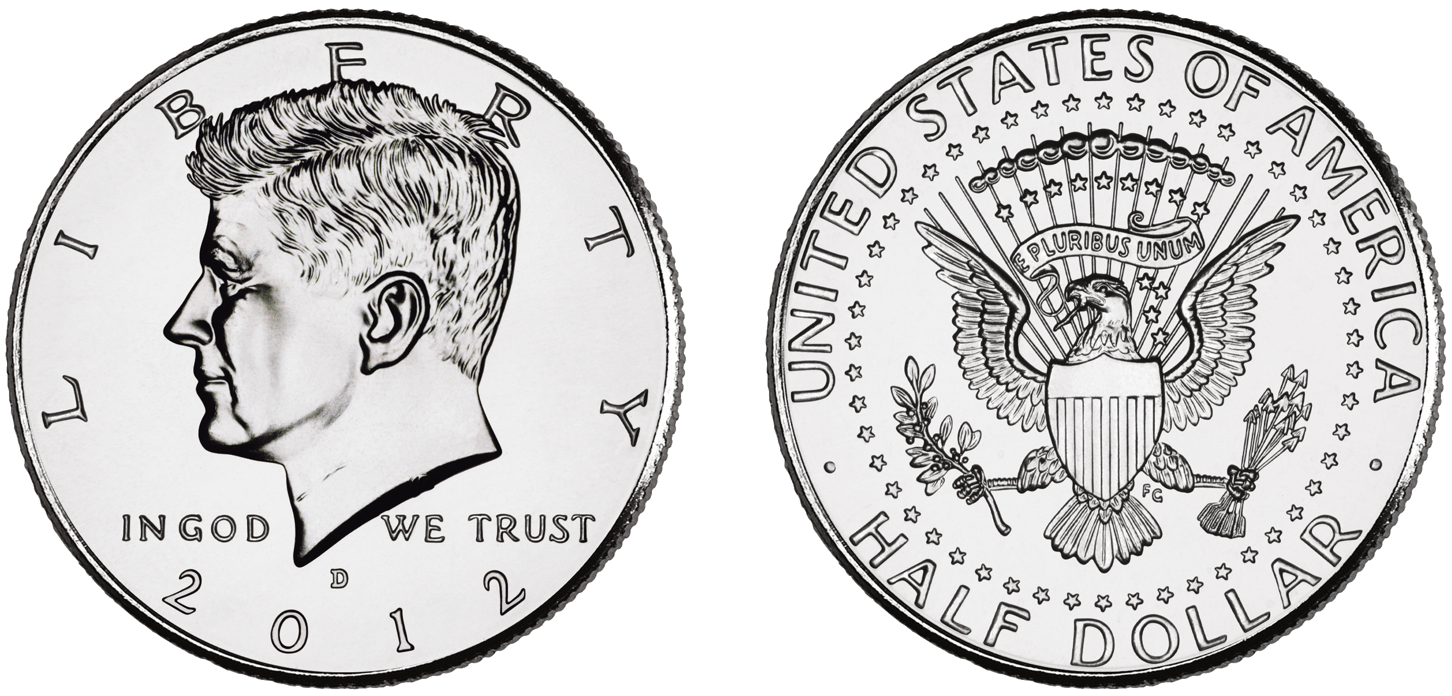 Money change clipart black and white free stock Kennedy Half Dollars | Isolated Stock Photo by noBACKS.com free stock