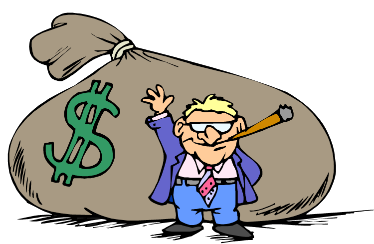 Money clipart illustration picture black and white library Man With Money Clipart picture black and white library