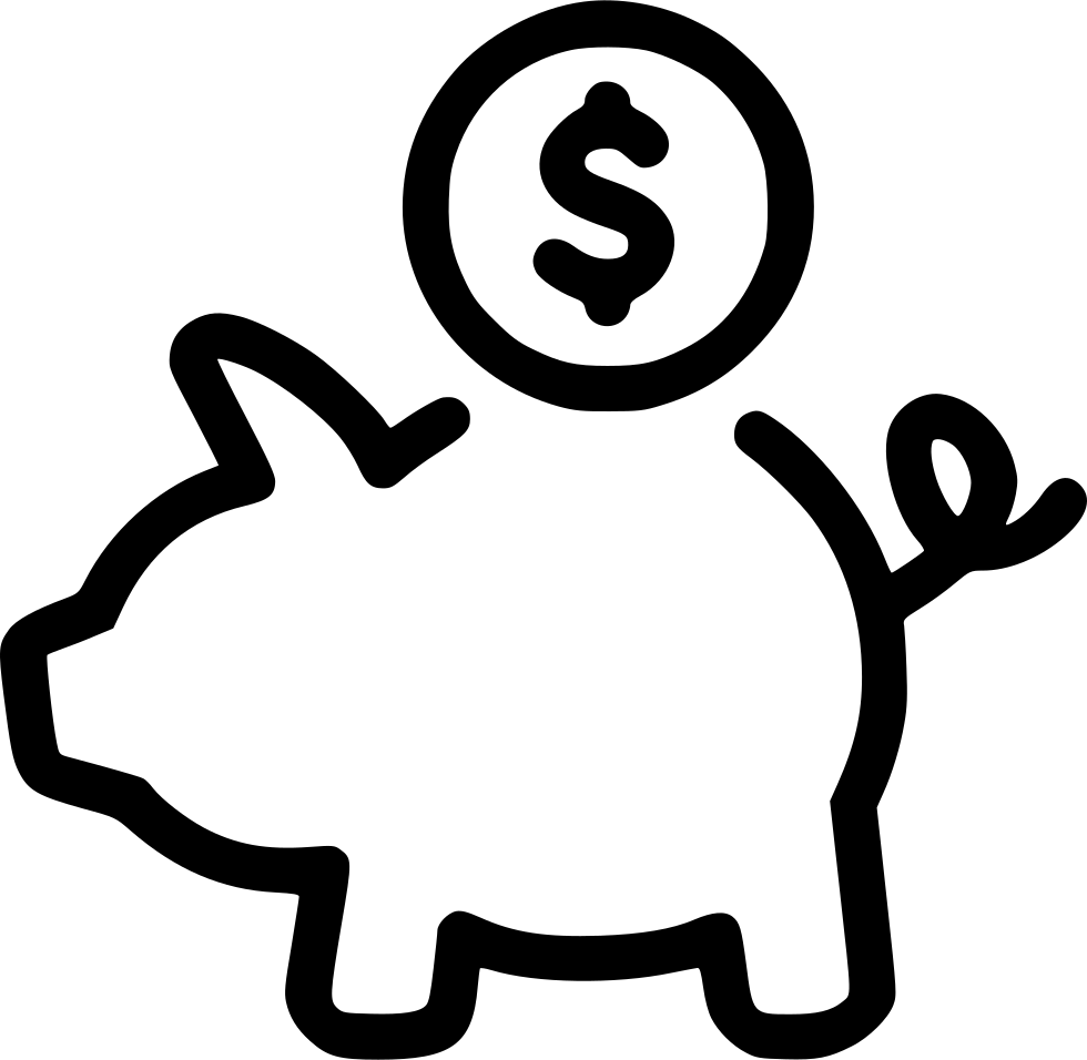 Money coin clipart white stock Cash Money Coins Piggy Bank Savings Svg Png Icon Free Download ... stock