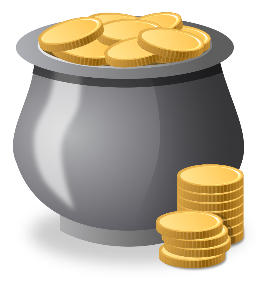 Money comes and goes clipart png free download OnlineLabels Clip Art - Money Pot png free download