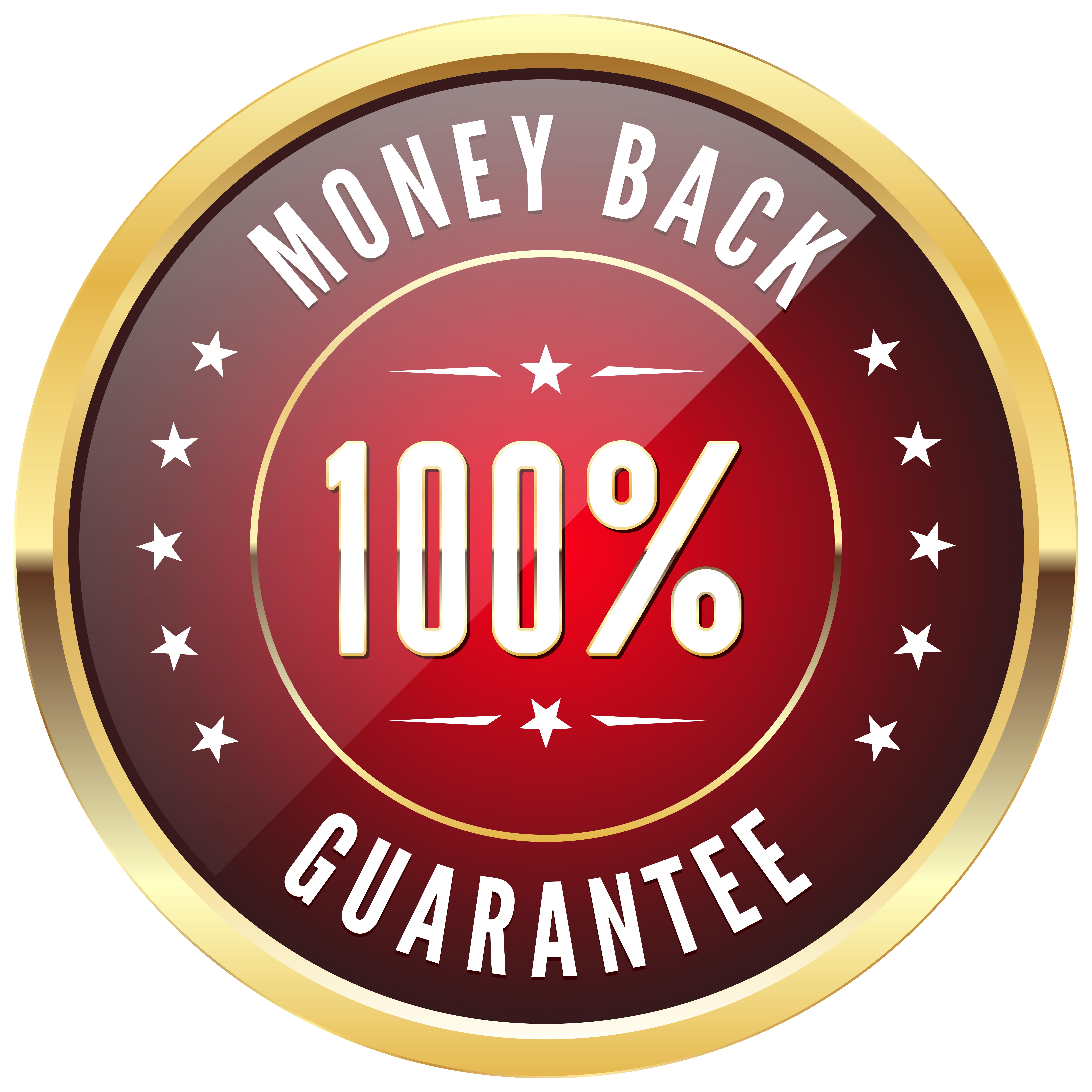 100% Money Back Badge Transparent PNG Clip Art Image | Gallery ... svg library