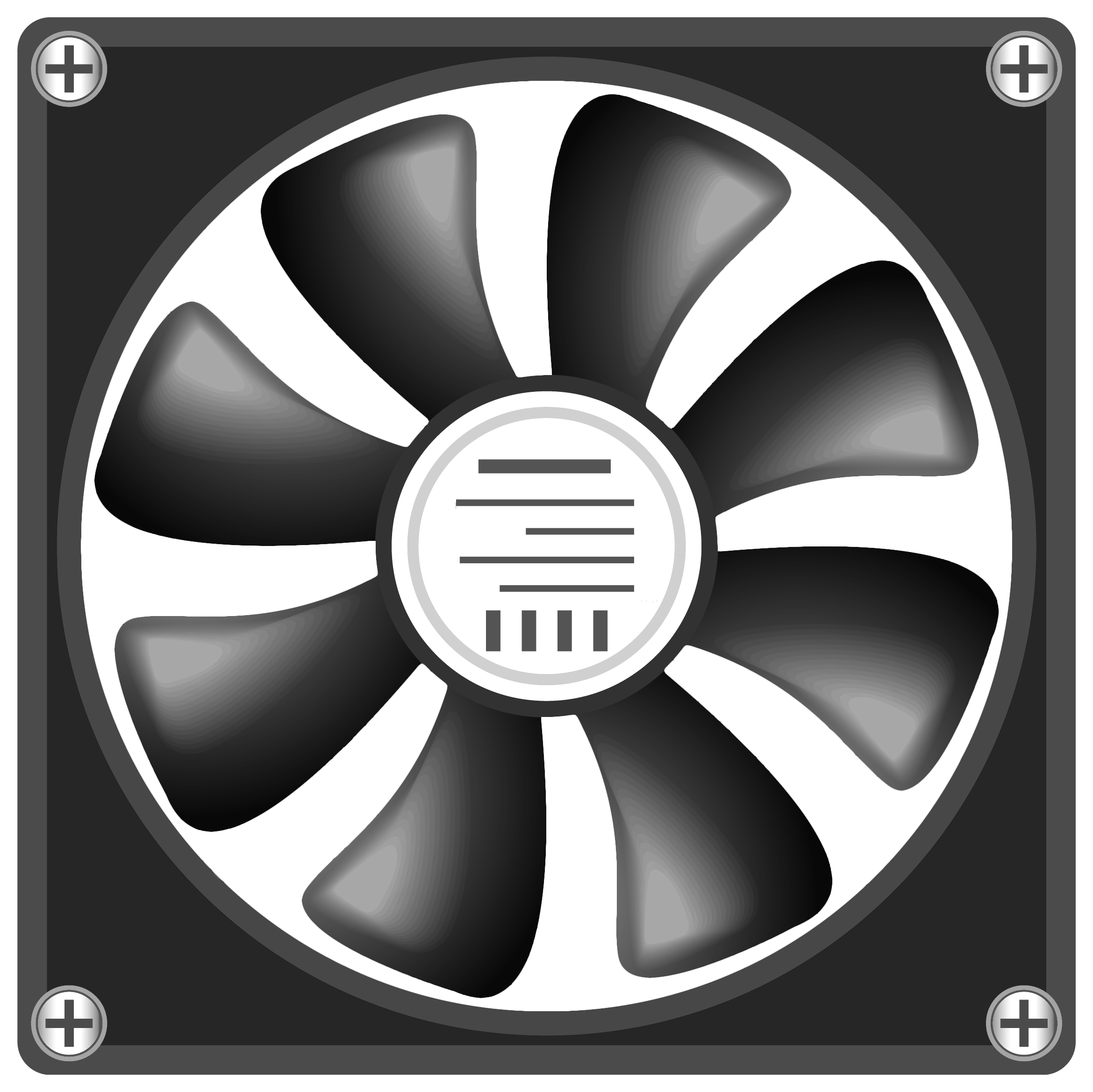 Money fan clipart black and white image free library 12V Computer Fan PNG Clipart - Best WEB Clipart image free library