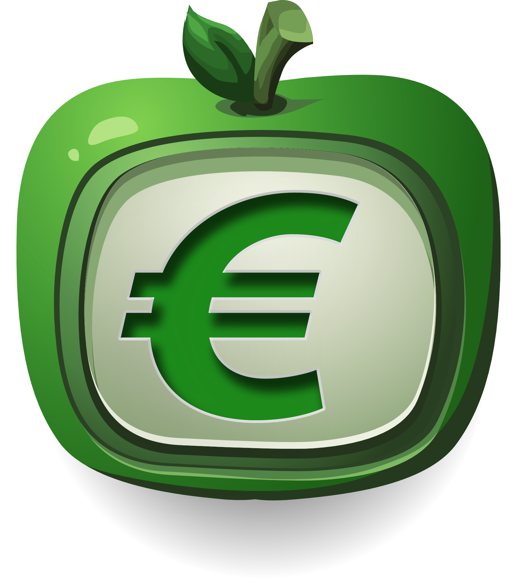 Money green arrow clipart royalty free library Euro PNG Transparent Image - PngPix royalty free library