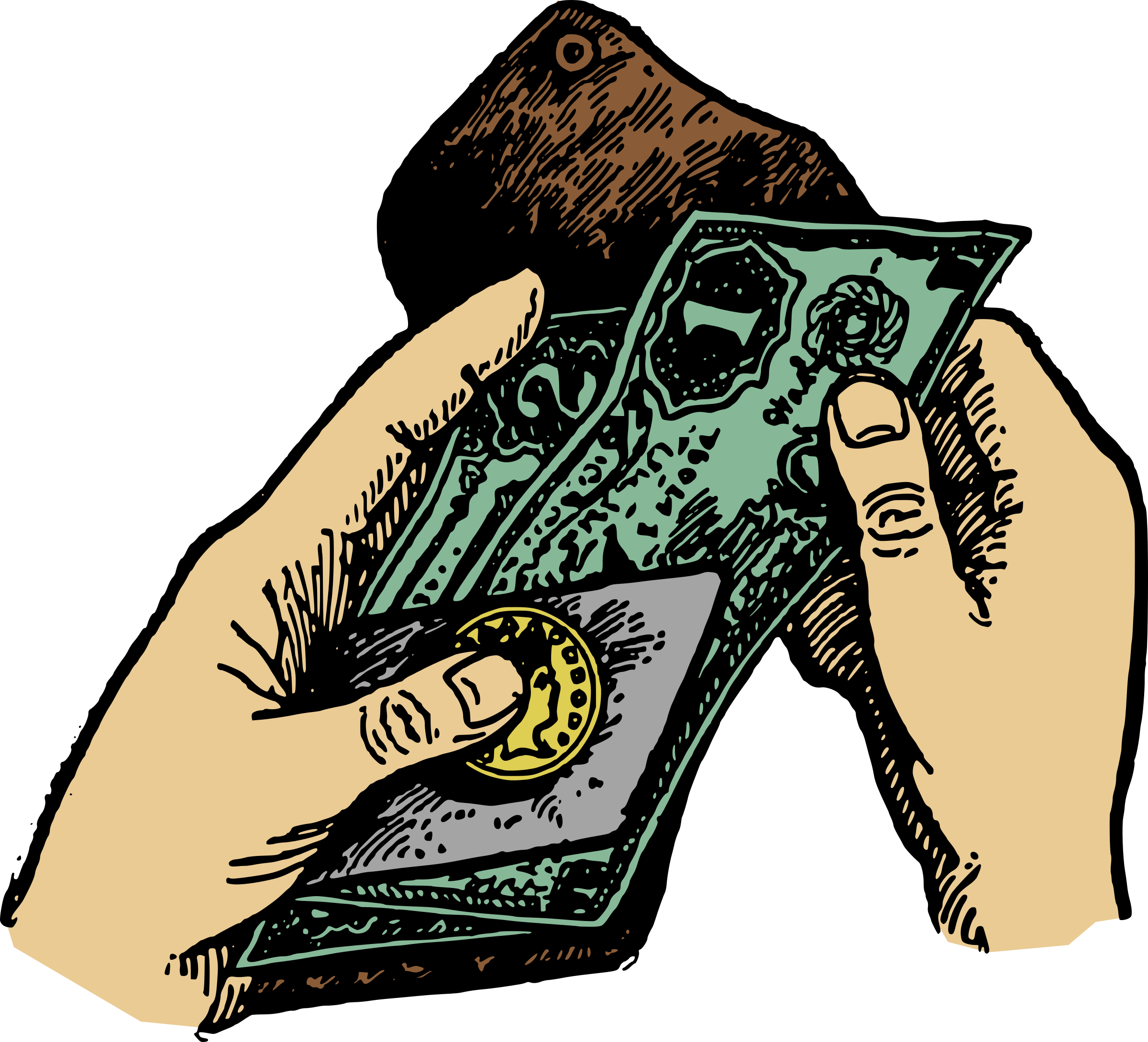 Money in hand clipart transparent clip art freeuse Hands and Money Icons PNG - Free PNG and Icons Downloads clip art freeuse