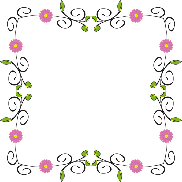 Money horizontal border clipart graphic black and white library Free Image on Pixabay - Floral, Flower, Flourish, Border | Pinterest ... graphic black and white library
