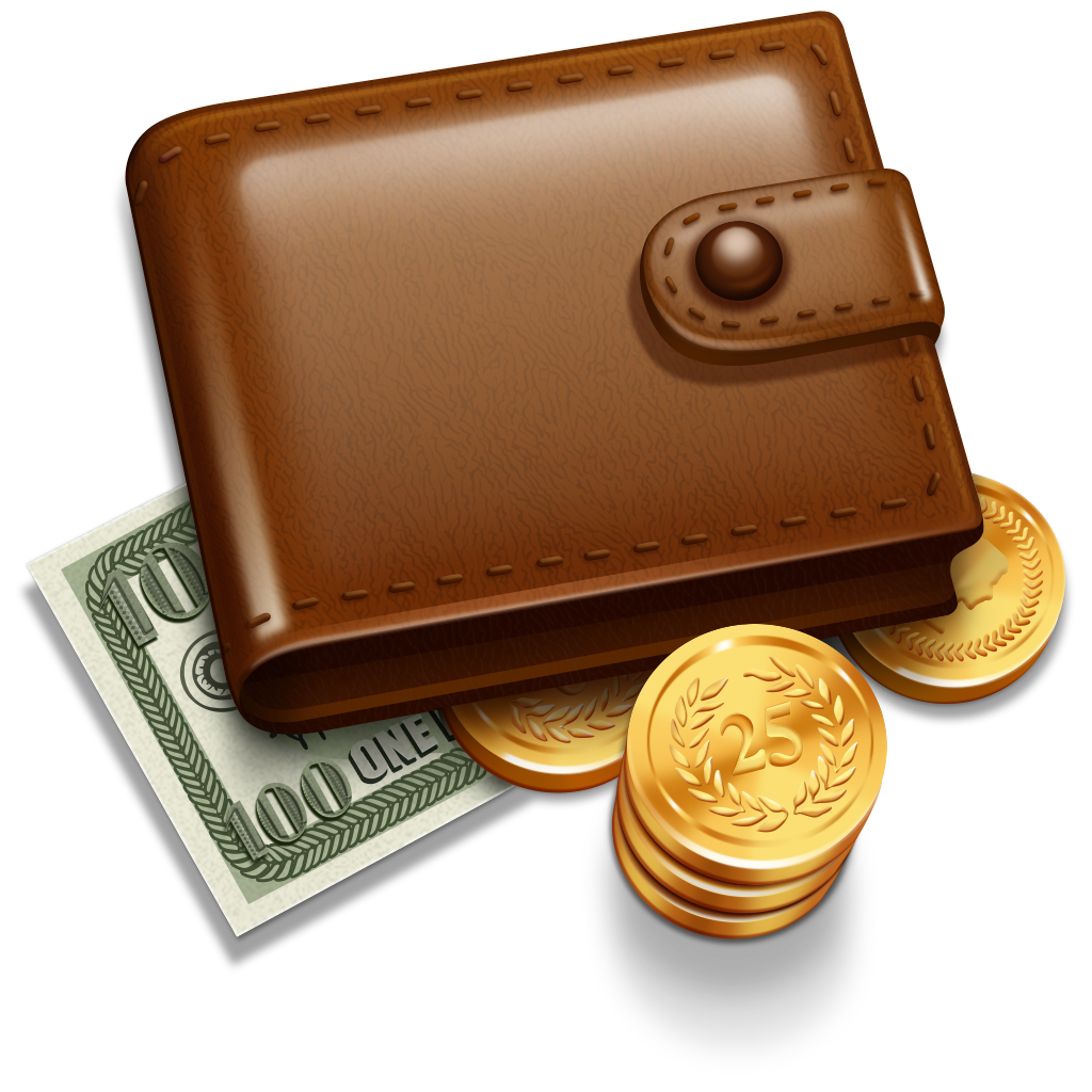 Wallet with money clipart