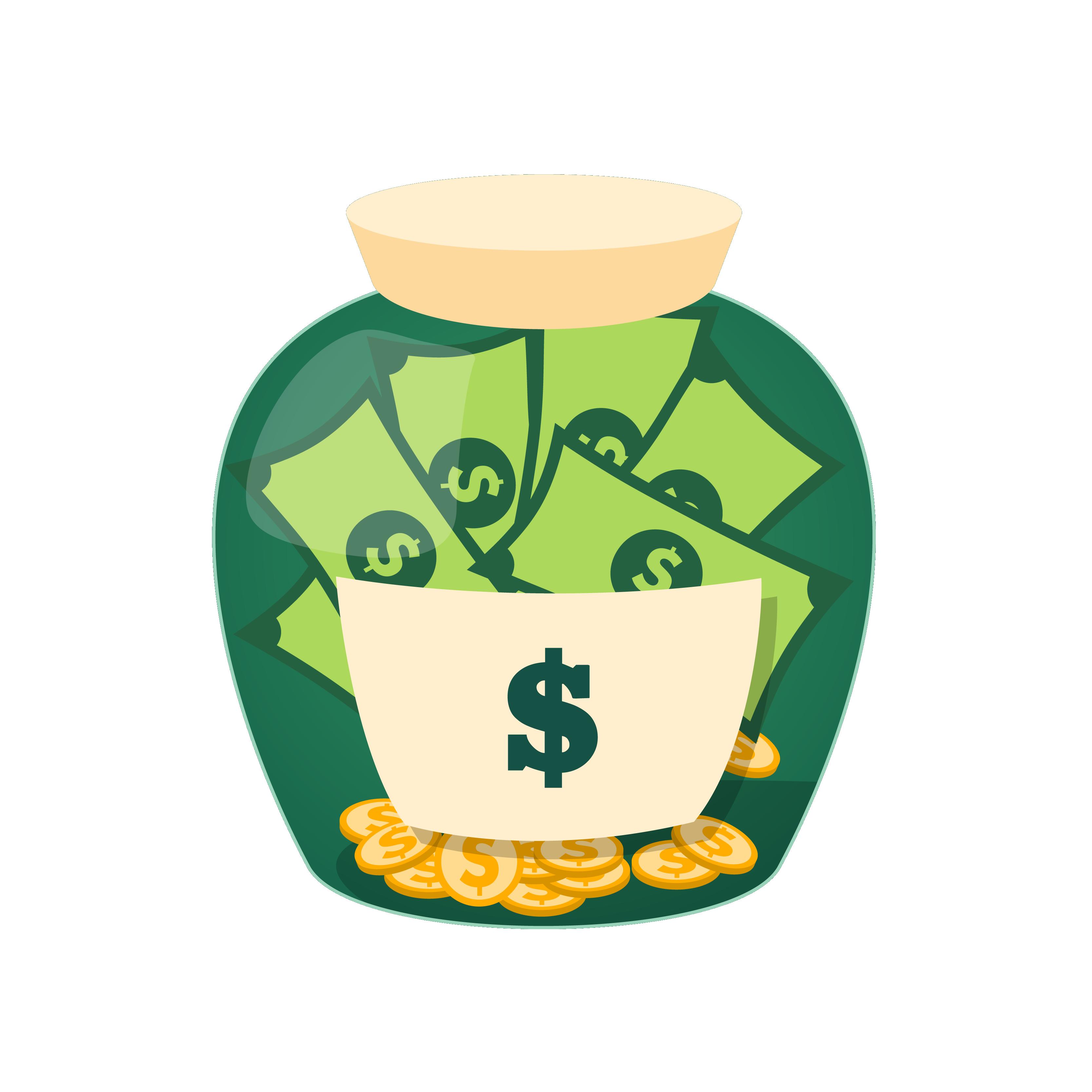 Money in glass cup clipart jpg royalty free library Money Jar Saving Clip art - Money jar 3333*3333 transprent Png Free ... jpg royalty free library