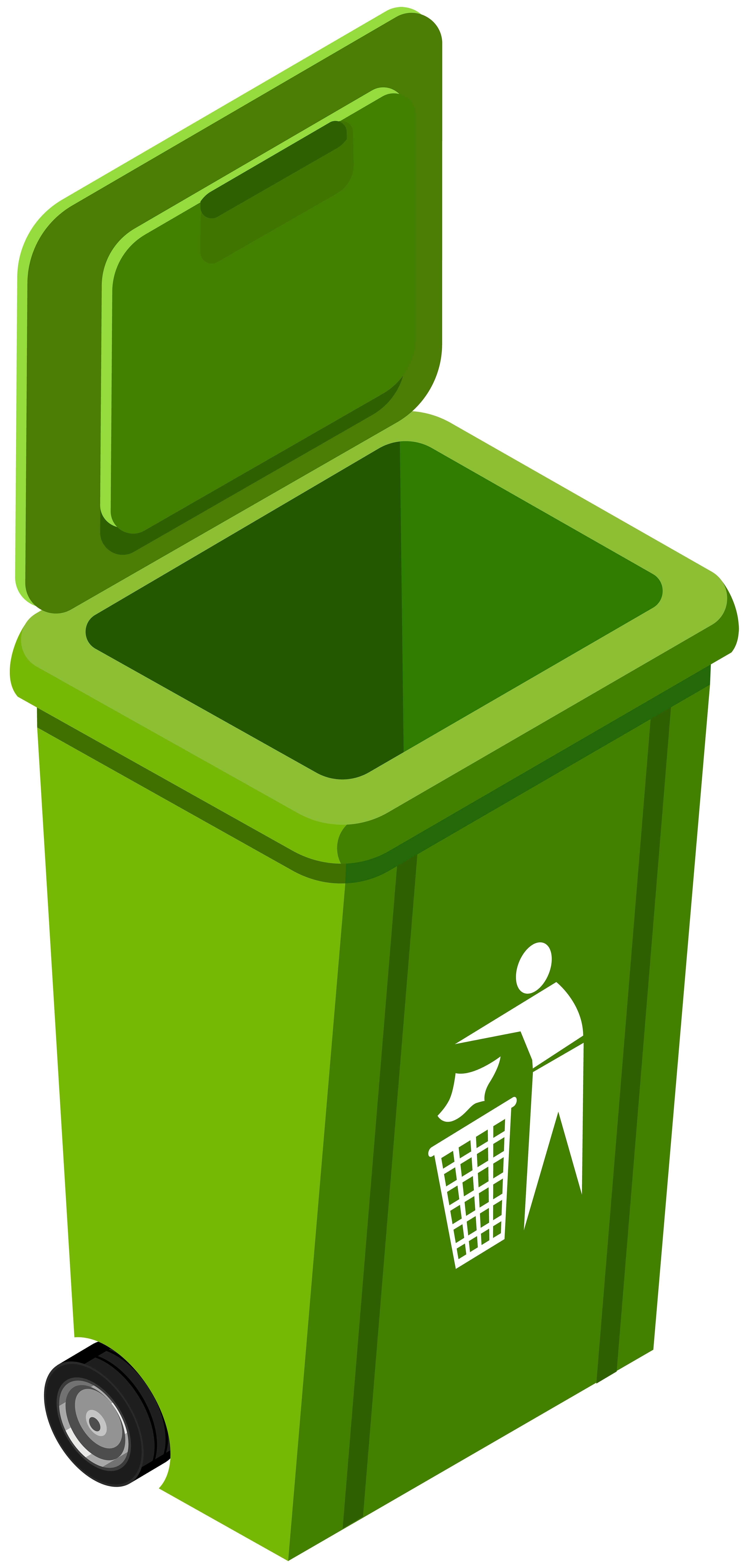 Trashcan basketball clipart clip art freeuse download Green Trash Can PNG Clip Art Image - Best WEB Clipart clip art freeuse download
