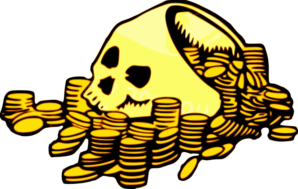 Opensource clipart money clipart black and white library Public Domain Clip Art Image | Skull & Money | ID: 13921842616126 ... clipart black and white library