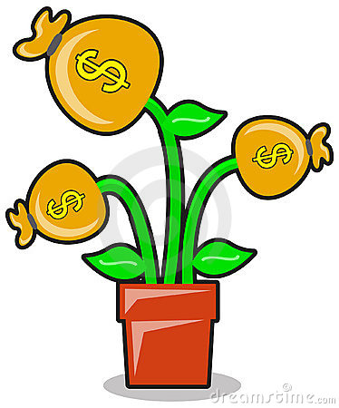 Money plant images clipart image stock Money Plant In A Pot Illustration Royalty Free Stock Image - Image ... image stock