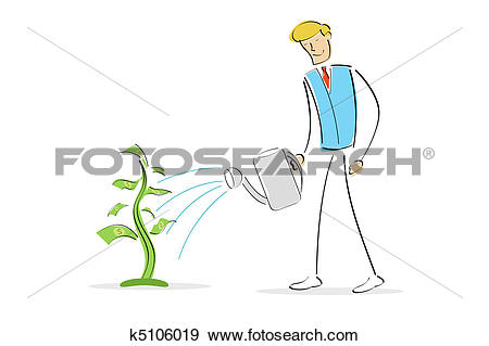Money plant images clipart clipart library download Clip Art of man watering money plant k5106019 - Search Clipart ... clipart library download