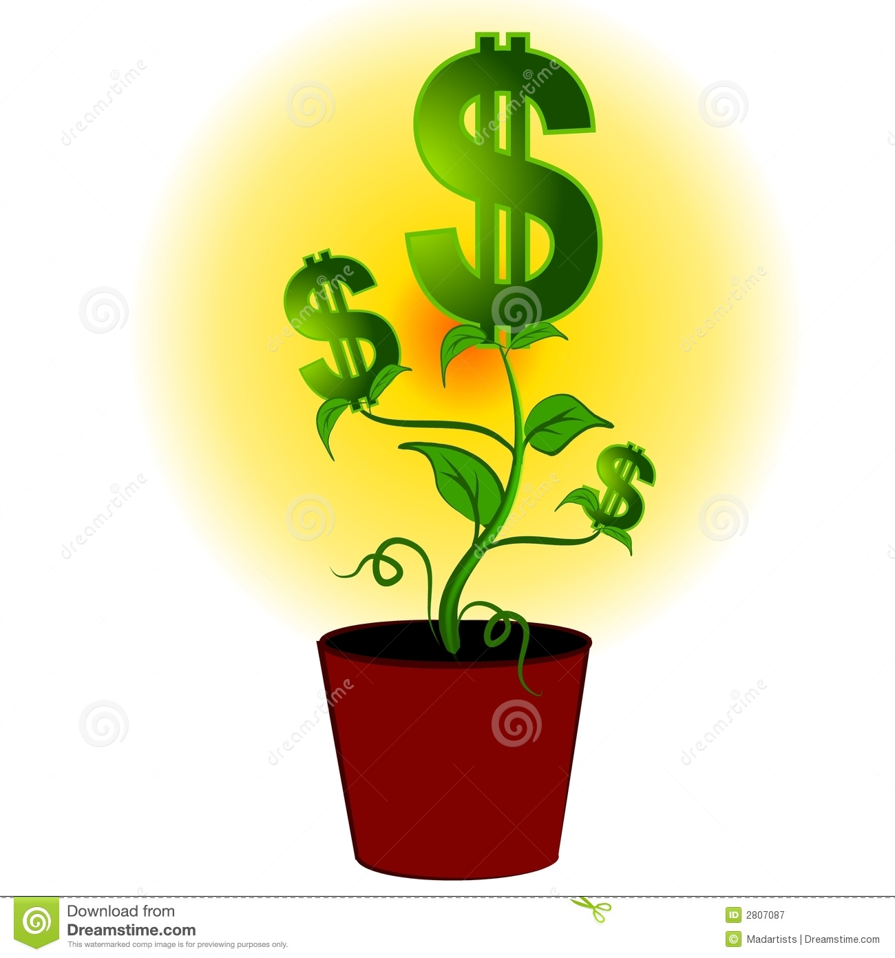 Money plant images clipart svg freeuse stock Dollar Signs Money Plant Tree Royalty Free Stock Photography ... svg freeuse stock