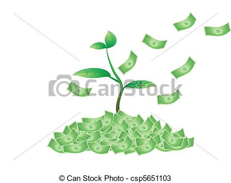 Money plant images clipart clip art royalty free library Vectors of plant growing from the money csp5651103 - Search Clip ... clip art royalty free library