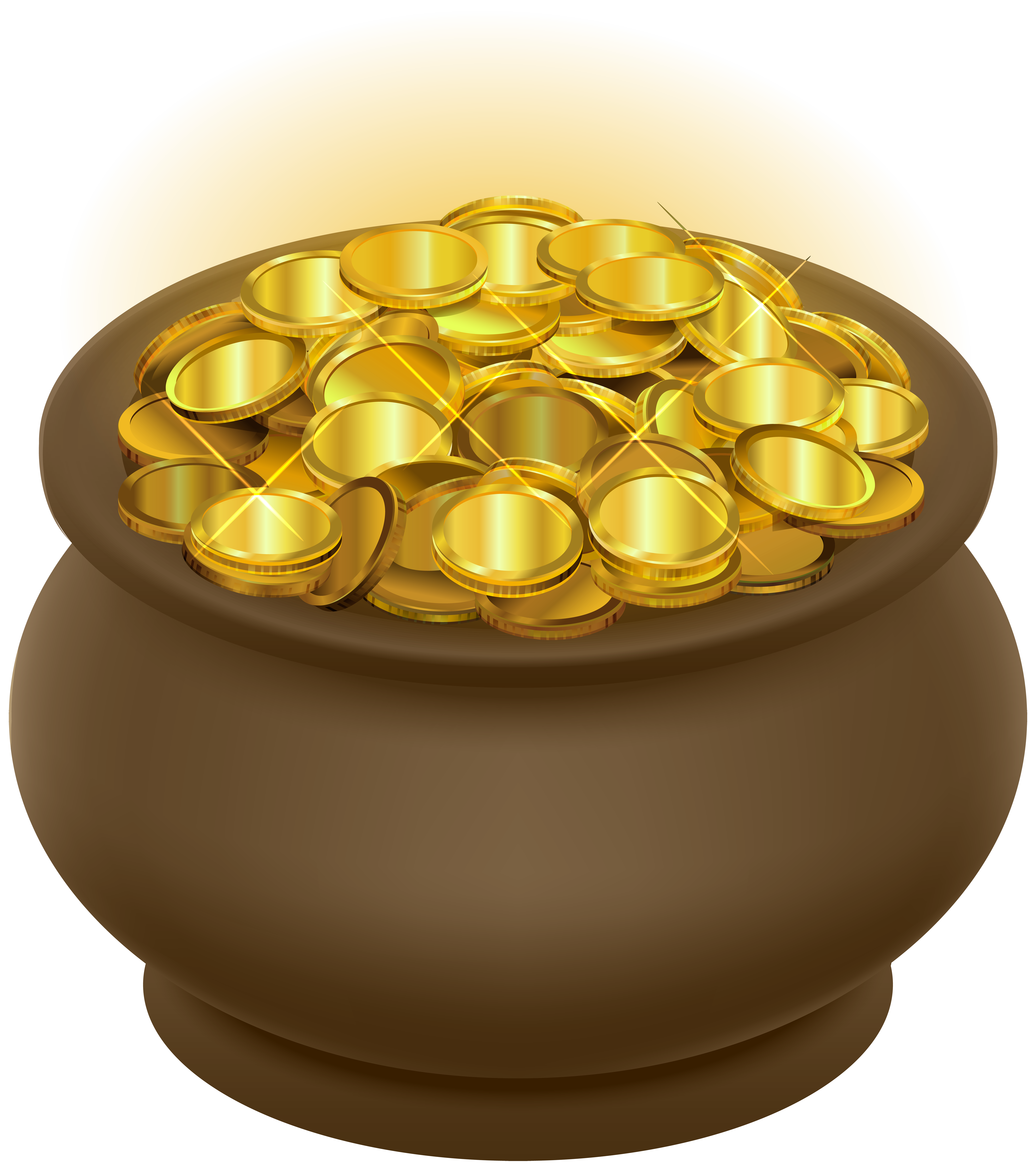 Money pot clipart png download Pot of Gold Transparent Clip Art Image | Gallery Yopriceville ... png download