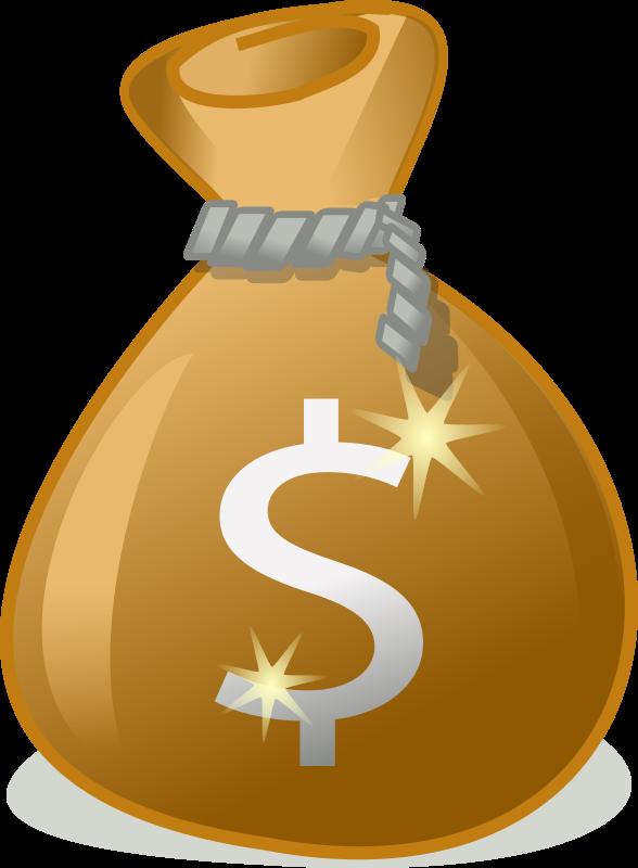 Money transparent clipart clip art freeuse Clipart - money bag clip art freeuse