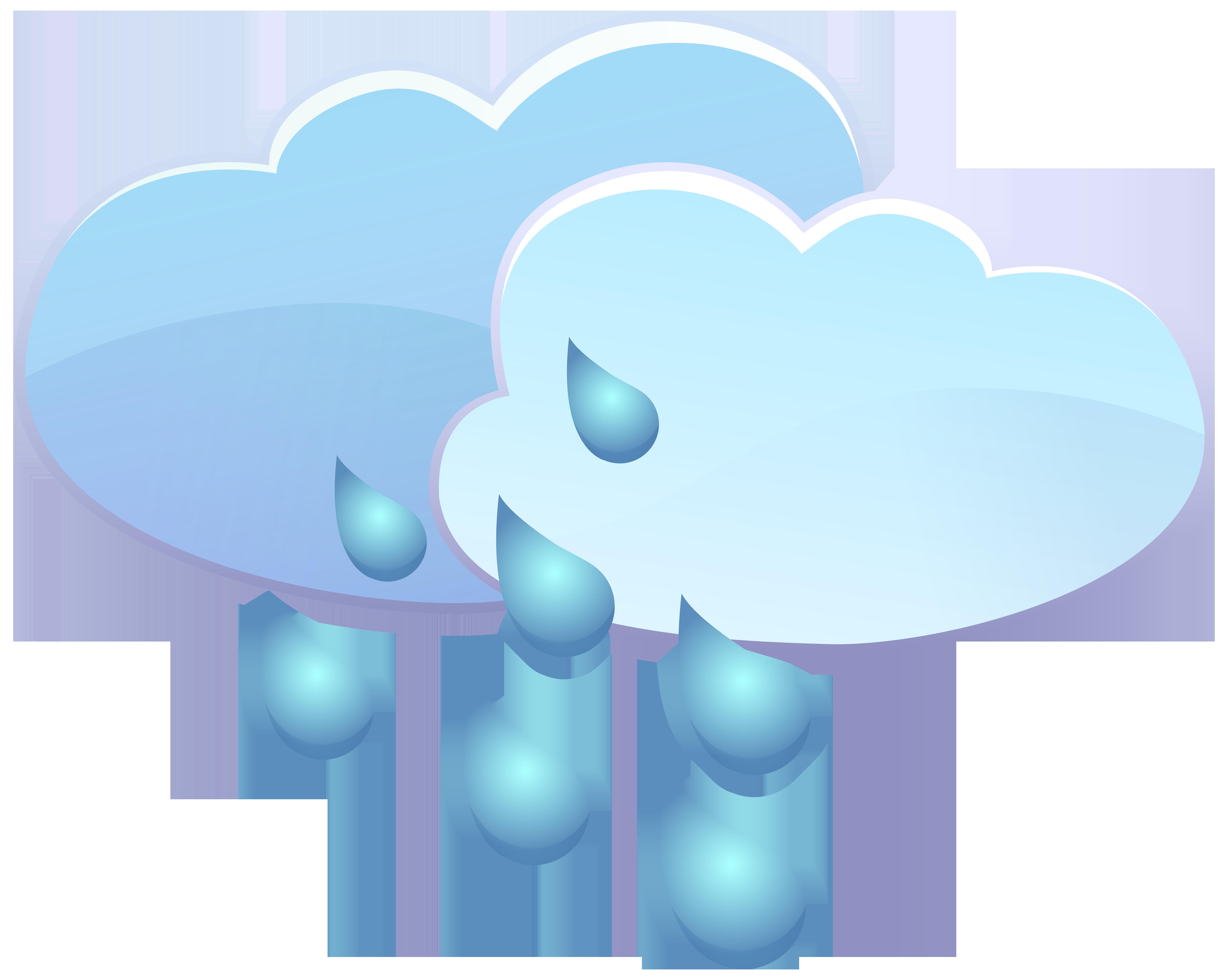 Money rain clipart banner transparent Clouds and Rain Drops Weather Icon PNG Clip Art - Best WEB Clipart banner transparent